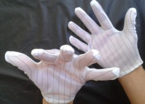 ESD Stripped Polyester Industrial Gloves pictures & photos