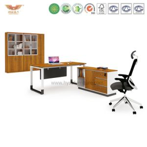 Modern Office Furniture L Shape Wooden Executive Desk (H90-0104)