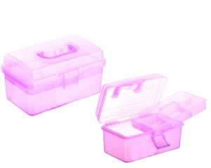 Hight Quality Crystal Multifunctional Plastic Storage Box with Handle pictures & photos