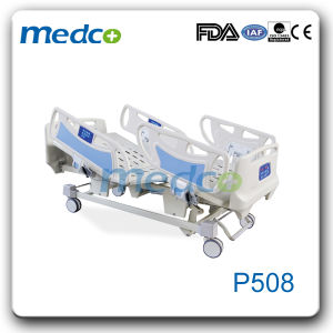 Hospital Furniture, Five Functions ICU Adjustable Electric Nursing Hospital Bed with Ce& ISO pictures & photos