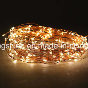 Copper Wire Waterproof Remote Control Dimmable LED Warm White String Lights DC12 V pictures & photos