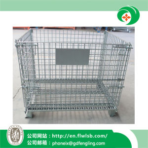 Folding Wire Mesh Cage for Transportation by Forkfit pictures & photos