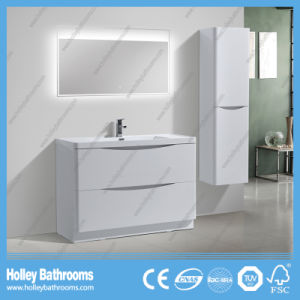 Modern High Gloss Painting Bathroom Cabinet with Side Cabinet and LED Lamp (BF318D) pictures & photos