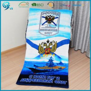 China Factory 100% Cotton Velour Terry Reactive Printed Custom Beach Towel pictures & photos