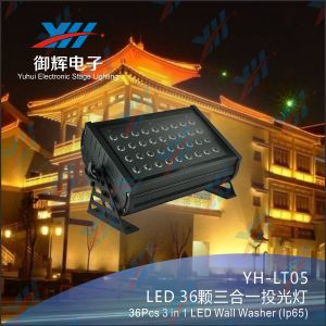 IP65 LED Garden Light 36*3W Waterproof DMX Outdoor Wall Mounted LED Light 3 in 1 RGB LED Wall Washer Light pictures & photos