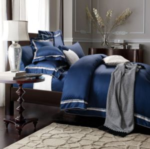 The Hotel Collection European Style Hotel/Home Embroidery Silk Bedding Set pictures & photos