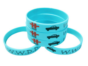 Personalized Logo Printed Silicone Bracelet for Promotional Gift pictures & photos