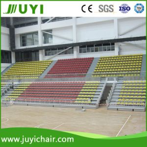 Jy-706 Indoor Gym Bleacher Telescopic Collapsing Bleacher with Low Back Chairs pictures & photos