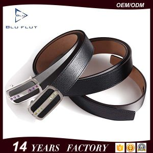 Fashion Western Rhinestone Genuine Cowhide Leather Men′s Black Belts pictures & photos