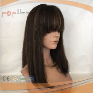 Human Hair Top Selling Silk Top Glueless Lace Wig (PPG-l-0761) pictures & photos
