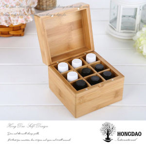 Hongdao Custom Small Wooden Essential Oils Box with Nine Dividers Wholesale_L pictures & photos