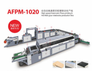 High Automatic Plexographic Printing and Glue Back Notebook Making Machine pictures & photos