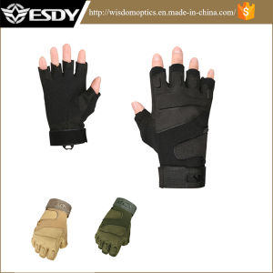 3 Colors Nylon Half-Finger Tactical Outdoor Protective Cycling Biking Gloves pictures & photos