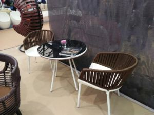 2 Lounge Arm Chairs Rattan Furniture for Hotel pictures & photos