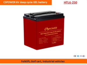 Cspower 6V250ah Deep Cycle Gel Battery for Folklift pictures & photos