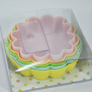 5PCS Flower Shaped Food Grade Silicone Pudding/Cake Mold Set pictures & photos