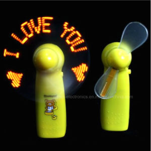 Promotion Mini LED Light Fan with Logo Printed (3509) pictures & photos