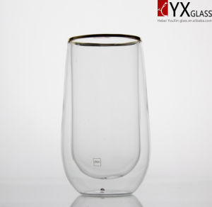 350ml Double Layer Glass Tea Cup/Double Layer Glass Coffee Cup/Double Layer Glass Thermos Cup/Double Wall Glass Cup pictures & photos