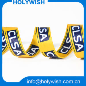 Sublimation Printed Logo Yellow Ribbon for Gifts Decoration