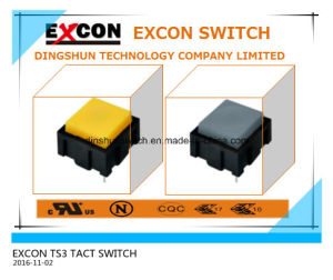 Tact Switch Ts3 Series with Lamp and Mini Size Switch pictures & photos