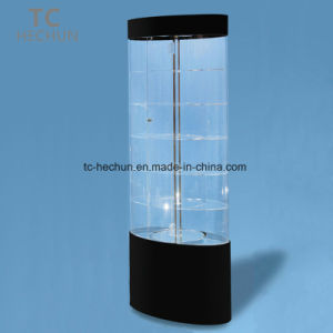 Oval Power-Driven Rotating Acrylic Display Cabinet pictures & photos