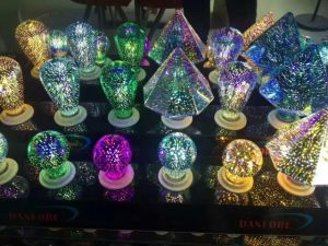 2017 New Arrival 3D Effect Fireworks A60 Bulbs Fancy Design LED Lamp pictures & photos