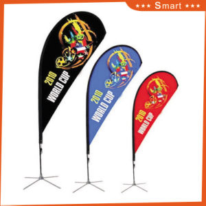 3PCS Custom Teardrop Feather Flag for Outdoor or Event Advertising or Sandbeach (Model No.: Qz-010) pictures & photos