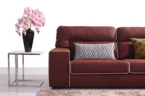 Modern Simple Living Room Red Fabric Sofa (HC571) pictures & photos