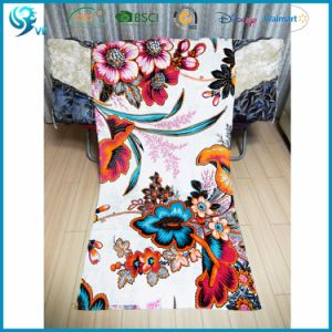 Pure Cotton Velour Reactive Printed Custom Picture Wholesale Towel pictures & photos