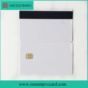 Glossy Blank Magnetic Stripe Card with Sle4442 Chip pictures & photos