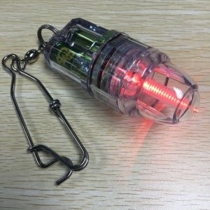 Multicolors Operated by AA Battery Power LED Fishing Lureing Lamp with Hook Baiting Fish Light pictures & photos