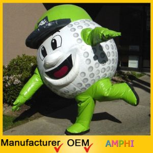 High Emulational Inflatable Golf Ball Moving Cartoon
