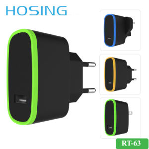 5V 2.1A Single USB Wall Charger OEM Logo for Mobile pictures & photos
