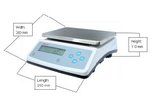 Hot Sale 10kg 0.1g Top Loading Scale pictures & photos
