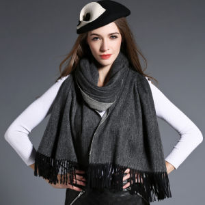 Wholesal Higher Quality 100% Cashmere Scarf Pashmina Grey pictures & photos