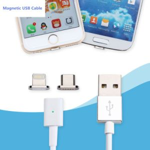 Hot Sell 2 in 1 Nylon Magnetic USB Data Cable for All Type Phone Charging pictures & photos