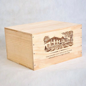 Good Quality Pine Wood Box for 6 Bottles Wine, 25 Oz. /Bottle pictures & photos