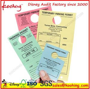 Car Parking Hang Tag Label Swing Tag Card Printing pictures & photos