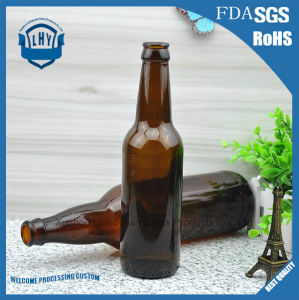 330ml Leadless Amber Glass Beer Bottle