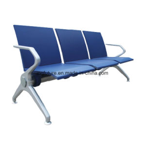 3-Seat Blue Leather Railway Station Chair pictures & photos