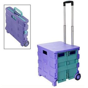 Portable Plastic Folding Basket for Shopping pictures & photos
