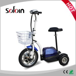 350W 36V 3 Wheel Foldable Electric Mobility Motorcycle (SZE350S-3) pictures & photos