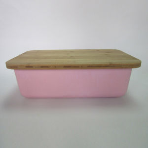 Bamboo Fiber Bread Box with Bamboo Lid pictures & photos