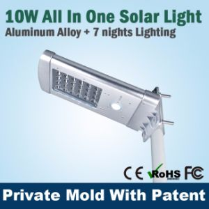 3m 10W IP65 Integrated Solar LED Street Light for Parking pictures & photos