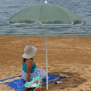 Steel 5 Foot Sage Green Beach Umbrella with Tilt Function pictures & photos