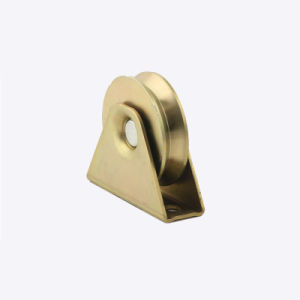 Single Bearing Sliding Gate Pulley Uvy Groove with Short Bracket pictures & photos