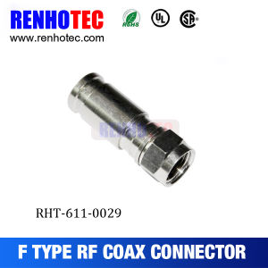 Electrical Male 75 Ohm Coax RF Connector RG6 Rg59 Compression F Connector pictures & photos