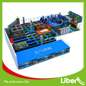 Customized Indoor Playground Trampoline Park with Ninja Course pictures & photos