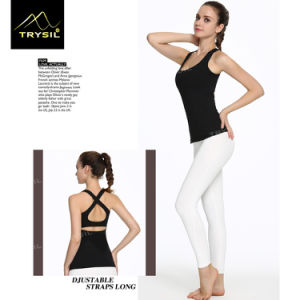 Sexy Backless Yoga Tank Tops Plain Vests Fitness Stringer for Lady pictures & photos