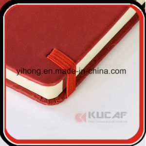A6 Embossed PU Lined Jotter Notebook with Elastic Closure pictures & photos
